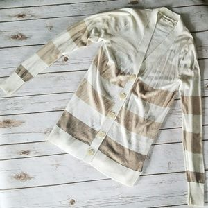 Old Navy Striped Button Up Cardigan